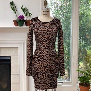 BCBGMAXAZRIA ❤️❤️❤️EUC Sheena French Leopard Dress